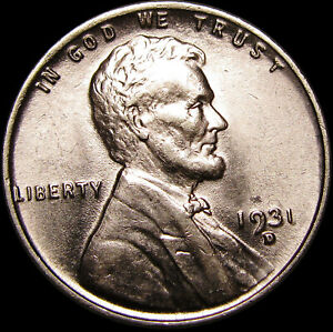 1931-D Lincoln Cent Wheat Penny US Coin ---- GEM BU Details ---- #S344