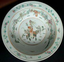 Jatte saladier porcelaine famille verte Chine Old chinese large bowl Qing XIX