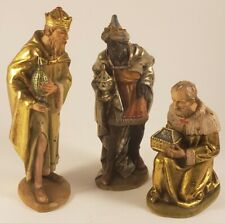 """Anri 6"""" Nativity Holy Family - Three Wise Men - Kuolt Wood Carving"""