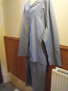 Mens Capsule Plain Poly Cotton Pyjama Traditional Grey 5XL
