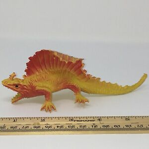 "6.5"" Hollow Chinasaur 1980's Dimetrodon Vintage dinosaur Rubber Weird Spike"