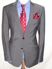 LUXURY MEN KENNETH COLE (New York) CHARCOAL GREY SUIT 40L  (50L EUR) W34 x L32