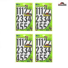 "(4) HY-KO MM-4N Black & White 3"" Numbers Stick On Adhesive 26PC ~ New"