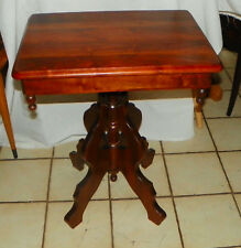 Solid Walnut Victorian End Table / Side Table  (T670)
