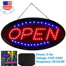 Ultra Bright Led Open Sign for Business Store Animated Motion Light 110V-240V