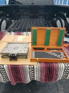 """Moore Tools Sine Table 10""""x12"""" w Clamp Rod Tooling Set.."""