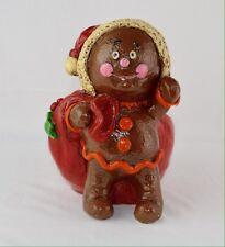 Vintage Chalkware Gingerbread Santa Claus, Carol Rardon