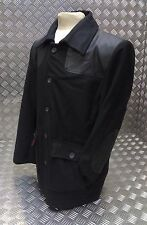 Vintage British Style Workers Red Tartan Lined Black Donkey Jacket - BRAND NEW