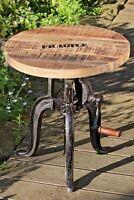 Beistelltisch Flexo mit Kurbel 50-74cm höhenverstellbar Tisch Holztisch Gewinde