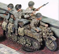 1:35 1/35 World War II U.S. Soldiers Hitching a Ride Resin Figure Model Kit