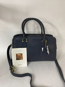 VINTAGE 1998 Coach Dark Navy Leather beaumont Satchel NWT NOS