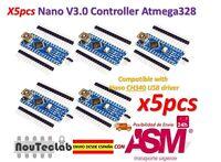 5pcs Nano V3.0 Controller Board Atmega328P Compatible Arduino Nano V3 CH340