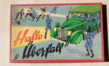 Altes Spiel / Gesellschaftsspiel / Würfelspiel / Hallo Überfall  POLIZEI um 1950