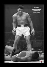 MUHAMMAD ALI VS SONNY LISTON PORTRAIT 13x19 FRAMED GELCOAT POSTER BOXING CHAMP!!