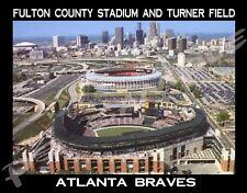 Atlanta Braves - FULTON COUNTY STADIUM AND TURNER FIELD - Flexible Fridge Magnet