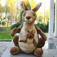 Stuffed Animals Soft Toy 40 CM Mother Child Kangaroo Plush Doll Child't Gift