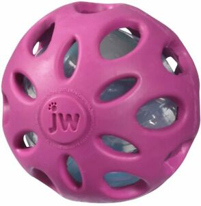 Crackle Heads Ball Dog Toy MED - Purple