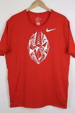 Nike Men's DRI-FIT Football Athletic Training T Shirt 921945 Red Size XXL