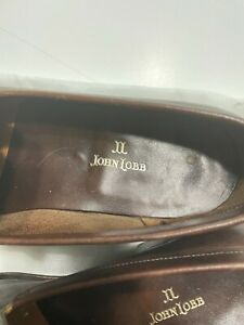 JOHN LOBB Solid Brown Leather Mens Loafer Dress Shoes - SZ 8 1/2
