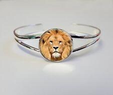 LION sur un Plaqué Argent Bracelet Gourmette Costume Bijoux Femme Cadeau L90