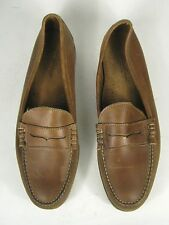 Eddie Bauer Shoes Size 13 D MADE USA Brown Leather Mens Penny Loafer Men