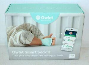 OWLET Smart Sock 2 Heart Rate & Oxygen Level Tracker Baby Monitor, 0-18 months