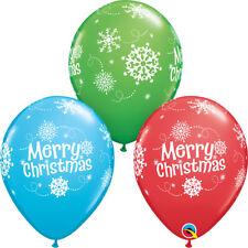 "CHRISTMAS PARTY SUPPLIES BALLOONS 10 x 11"" CHRISTMAS SNOWFLAKES BALLOONS"