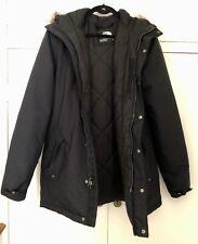 North Face Mens Black Parka Coat, Size Small, Excellent Condition