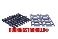 """RSLLC Flat Guide Plates & 3/8"""" Rocker Arm Studs Chevy sb 400 383 350 327 305 283"""