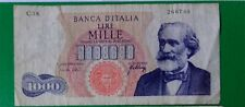 """1966  - Banconota Italia Repubblica 1000 Lire """"G Verdi - Tipo 1""""  cat BI 55F"""