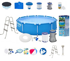 21in1 BestWay SWIMMING POOL 366cm 12FT + Ladder + PUMP SET Garden Round Pool