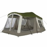 Wenzel Klondike 16 x 11 Foot 8 Person 3 Season Screen Room Camping Tent, Green