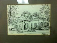 Monticello Framed Sketch Print