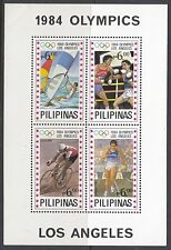 CYCLING:1984 PHILIPPINES Olympics inc  Cycling Miniature Sheet  SGMS1839 MNH
