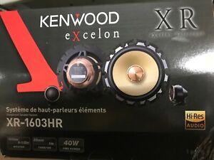 "NEW! Kenwood Excelon XR-1603HR 6.5"" Hi-Res Audio Components Separates Speakers"