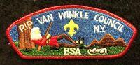 BSA RIP VAN WINKLE COUNCIL NY OA HALF MOON LODGE 28 BSA SCOUT PATCH FLAP CSP