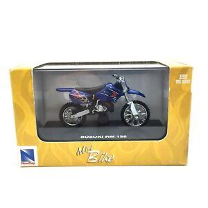 New Ray Suzuki RM 125 Motocross Mini Dirt Bike Motorcycle Blue Die Cast 1/32
