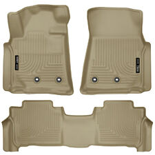 HUSKY WeatherBeater TAN Floor Mats for 13-19 Toyota Land Cruiser Lexus LX570 LX
