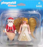 PLAYMOBIL Blister 9498 Duo Pack Weihnachtsmann Nikolaus Engel Cherub Duopack NEU