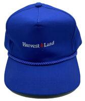 Vintage VTG Harvest Land Truckers Hat Cap Snapback Blue Mesh Unused