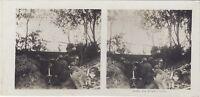 Grande Guerre Mitragliatrice WW1 Foto Stereo Vintage Analogica