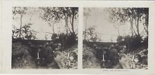 Grande Guerre Mitrailleuse WW1 Photo Stereo Vintage Argentique