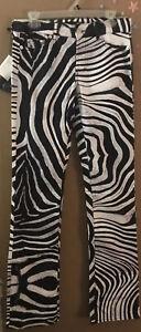 Just Cavalli Womens Zebra Print Jeans! Size 29/43