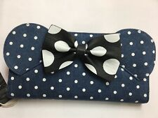 Loungefly Disney Minnie Mouse Polkadot Denim Zip Around Wallet