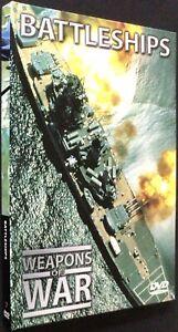 Weapons of War - Battleships - DVD + Book - Free Post