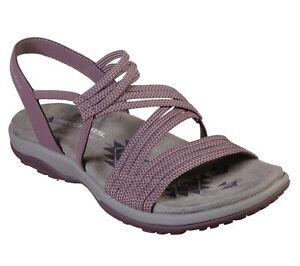Skechers NEW Reggae Slim Skech Appeal comfort vegan plum purple sandals size 3-9