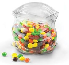 Fred UNZIPPED Glass BAG BOWL - Novelty Sweets JAR Nuts BOWL Clear