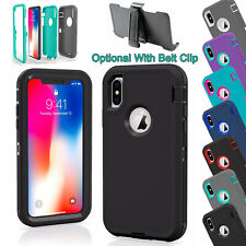 For iPhone 11 Pro XS XR MAX X 8 7 6s 6 Plus Defender Rugged Shockproof Case
