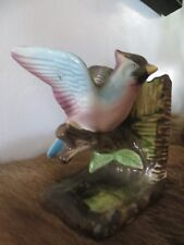 "Ceramic Blue Jay Book End Figurine  (About 5"" Tall)"