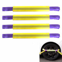 4x Alloy Wheel Vehicle Car Recovery Securing Tie Link Straps Trailer Transporter
